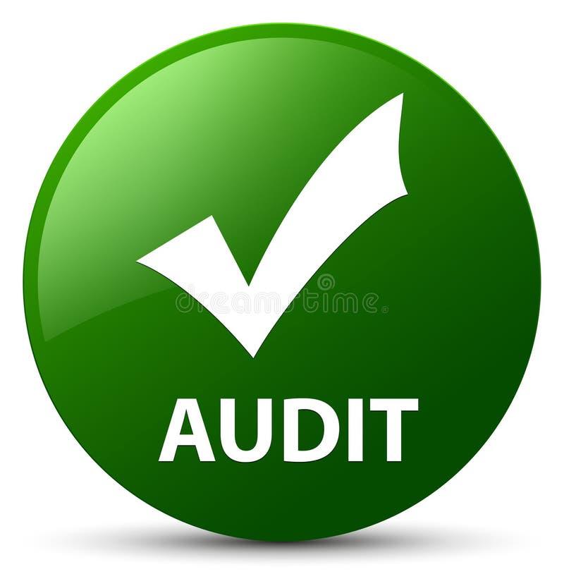 Λογιστικός έλεγχος (επικυρώστε το εικονίδιο) πράσινο στρογγυλό κουμπί απεικόνιση αποθεμάτων