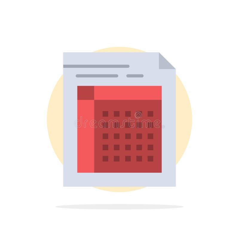 Λογιστικός έλεγχος, Μπιλ, έγγραφο, αρχείο, μορφή, τιμολόγιο, έγγραφο, φύλλων αφηρημένο κύκλων εικονίδιο χρώματος υποβάθρου επίπεδ διανυσματική απεικόνιση