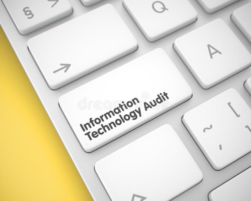 Λογιστικός έλεγχος τεχνολογίας πληροφοριών στο κλειδί πληκτρολογίων τρισδιάστατος απεικόνιση αποθεμάτων