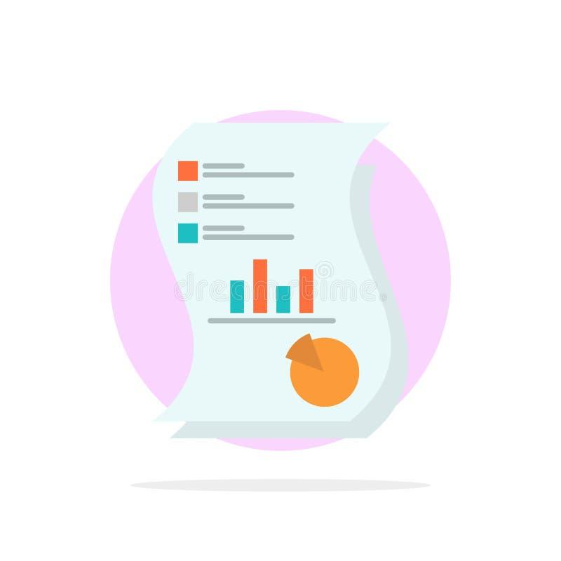 Λογιστικός έλεγχος, Analytics, επιχείρηση, στοιχεία, μάρκετινγκ, έγγραφο, εκθέσεων αφηρημένο κύκλων εικονίδιο χρώματος υποβάθρου  διανυσματική απεικόνιση