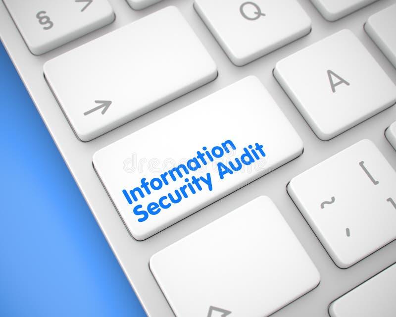 Λογιστικός έλεγχος ασφαλείας πληροφοριών - μήνυμα στο άσπρο αριθμητικό πληκτρολόγιο πληκτρολογίων 3 ελεύθερη απεικόνιση δικαιώματος