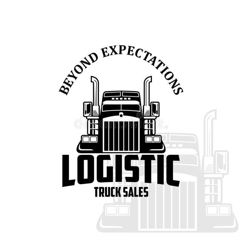 Λογιστικό διάνυσμα λογότυπων πωλήσεων φορτηγών ελεύθερη απεικόνιση δικαιώματος