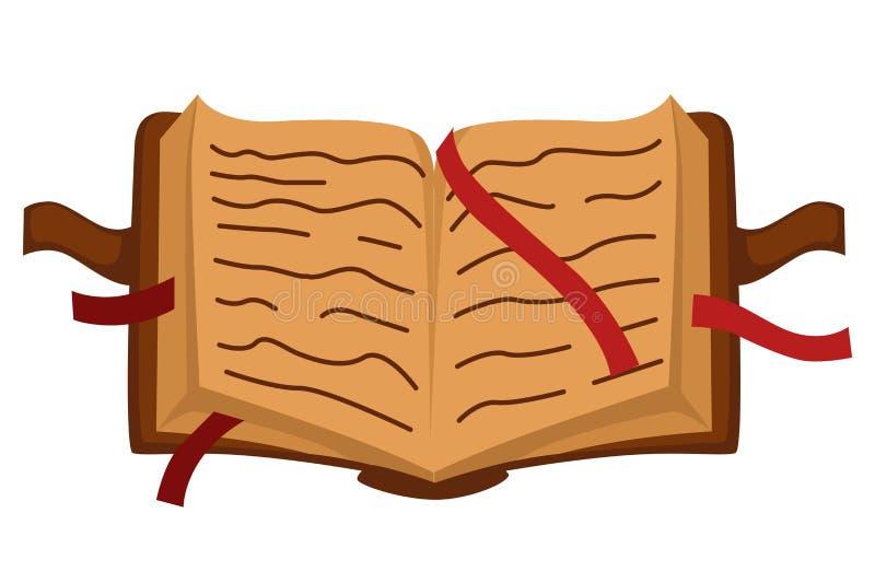 Λογοτεχνία, εκλεκτής ποιότητας παλαιό βιβλίο με το hardcover και σελιδοδείκτες, απομονωμένο αντικείμενο ελεύθερη απεικόνιση δικαιώματος