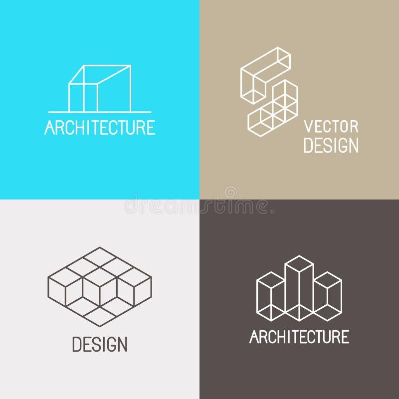 Λογότυπα αρχιτεκτονικής ελεύθερη απεικόνιση δικαιώματος