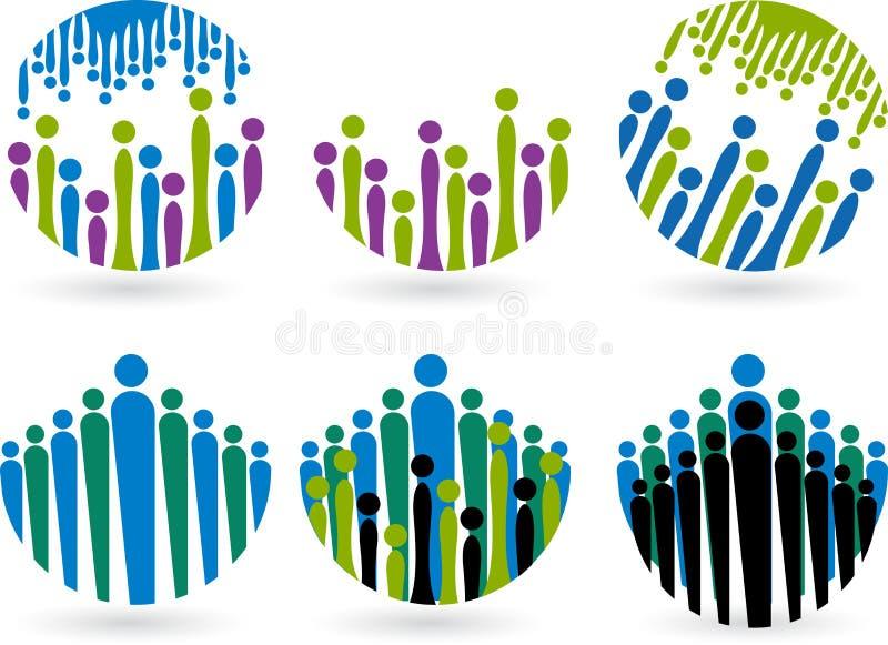 Λογότυπα λαών διανυσματική απεικόνιση