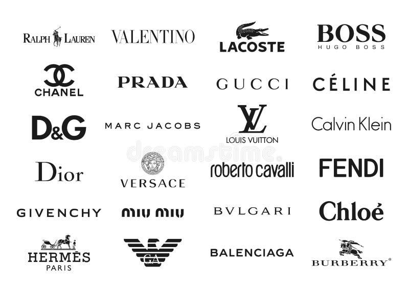 Λογότυπα εμπορικών σημάτων μόδας