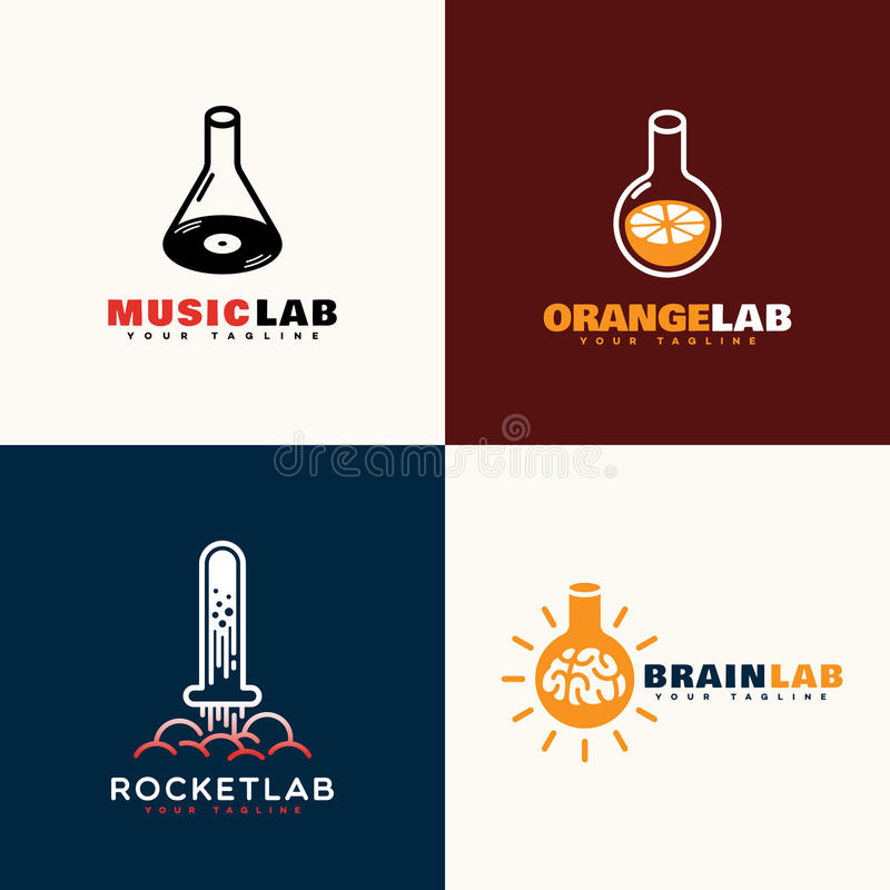 Λογότυπα εργαστηρίων ελεύθερη απεικόνιση δικαιώματος