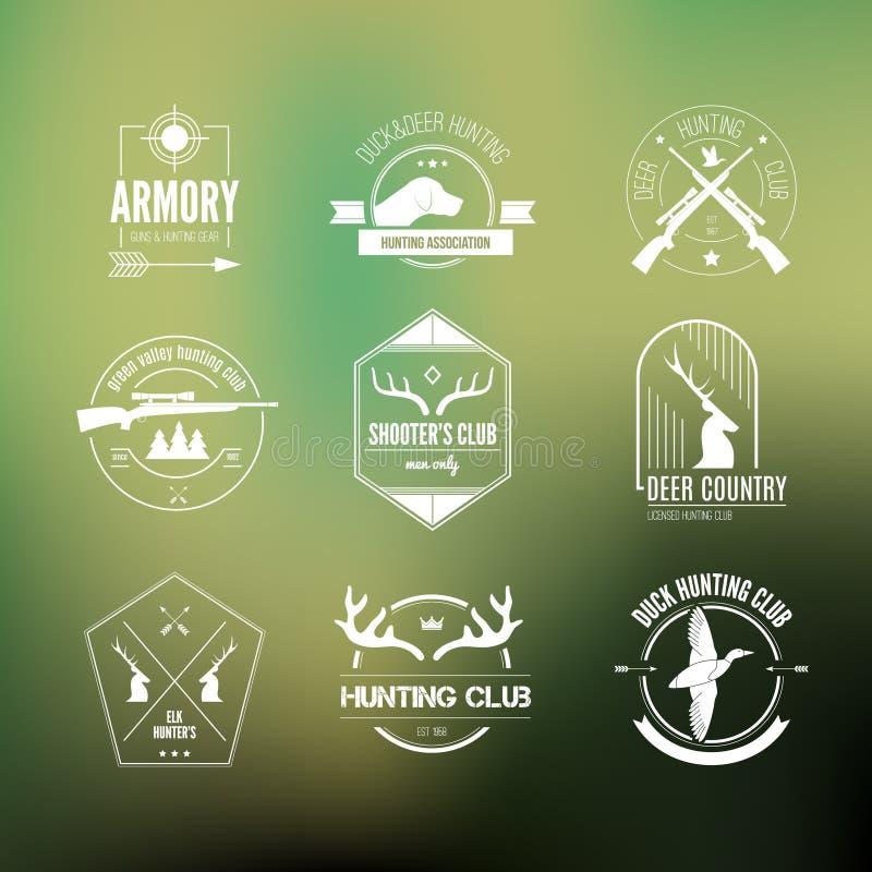 Λογότυπα κυνηγιού διανυσματική απεικόνιση