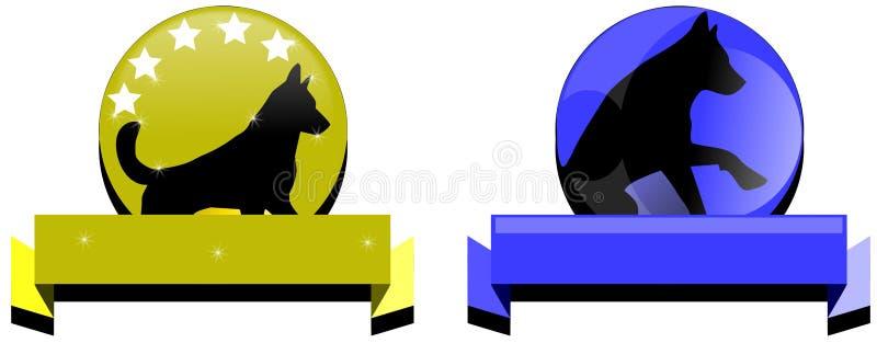 Λογότυπα σκυλιών απεικόνιση αποθεμάτων