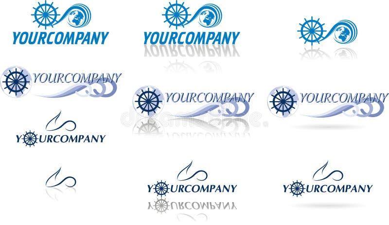Λογότυπα σφαιρών για ιστιοπλοϊκό και το αεροπορικό ταξίδι ελεύθερη απεικόνιση δικαιώματος