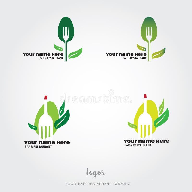 Λογότυπα τροφίμων και εστιατορίων ελεύθερη απεικόνιση δικαιώματος