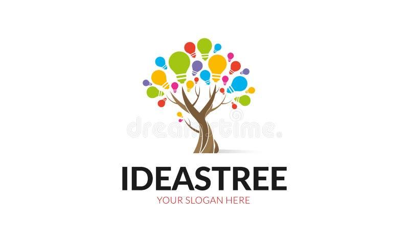 Λογότυπο δέντρων ιδεών διανυσματική απεικόνιση