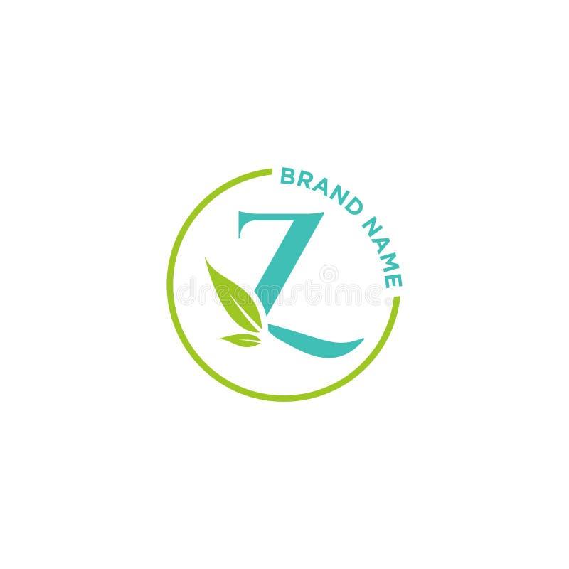 Λογότυπο ή αρχικά επιστολών Ζ για την επιχείρηση διανυσματική απεικόνιση