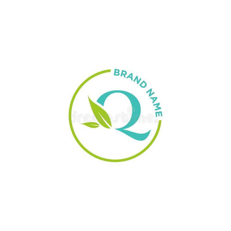 Λογότυπο ή αρχικά επιστολών του Q για την επιχείρηση διανυσματική απεικόνιση