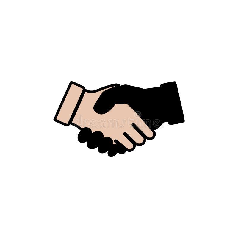 Λογότυπο ή εικονίδιο κουνημάτων χεριών ελεύθερη απεικόνιση δικαιώματος