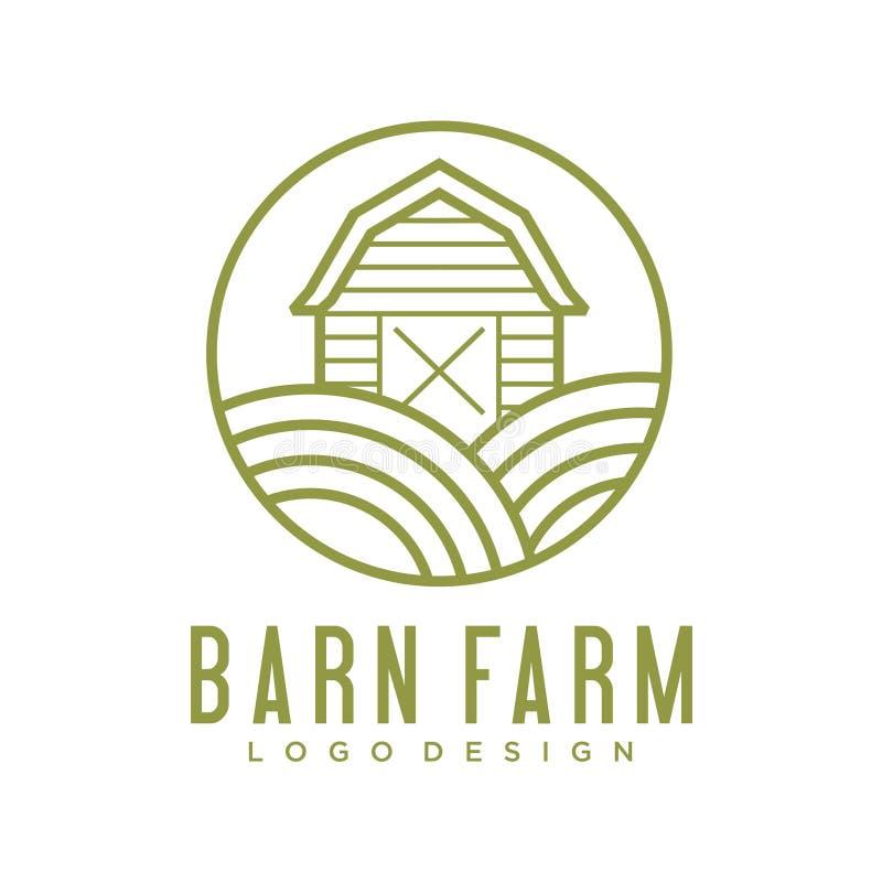 Λογότυπο αγροικιών, διανυσματικό, μαύρο έμβλημα γεωργίας, φυσικό προϊόν, απλή μινιμαλιστική έμπνευση σχεδίου αγροτικών λογότυπων  ελεύθερη απεικόνιση δικαιώματος