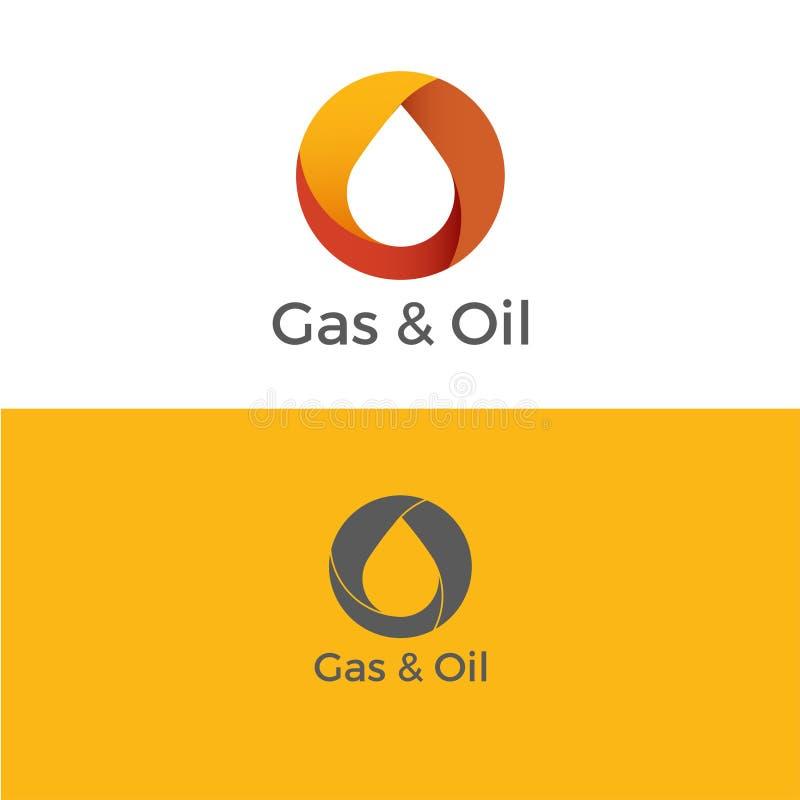 Λογότυπο αερίου και πετρελαίου ελεύθερη απεικόνιση δικαιώματος