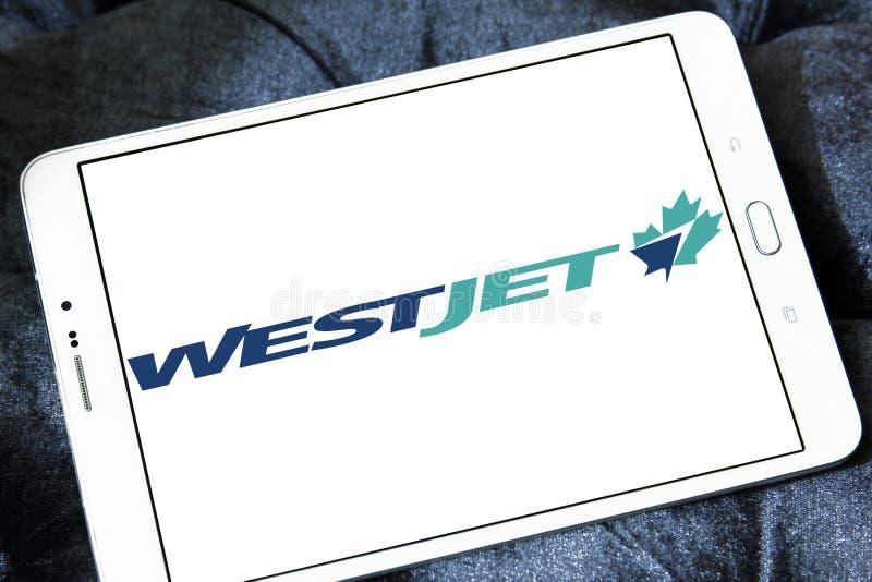Λογότυπο αερογραμμών WestJet στοκ φωτογραφία