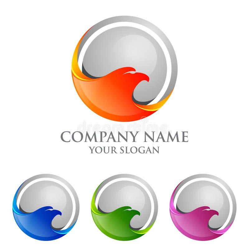 Λογότυπο αετών emplate, γεράκι, διανυσματικό σχέδιο λογότυπων γερακιών απεικόνιση αποθεμάτων