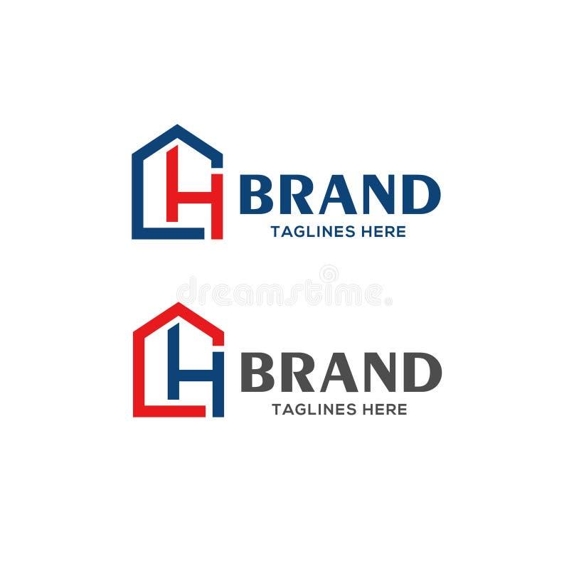 Λογότυπο ακίνητων περιουσιών γραμμάτων CH ελεύθερη απεικόνιση δικαιώματος