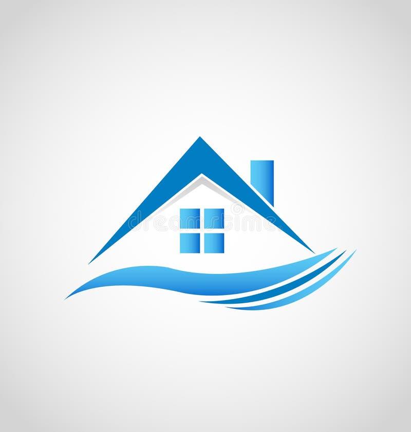 Λογότυπο ακίνητων περιουσιών σπιτιών απεικόνιση αποθεμάτων