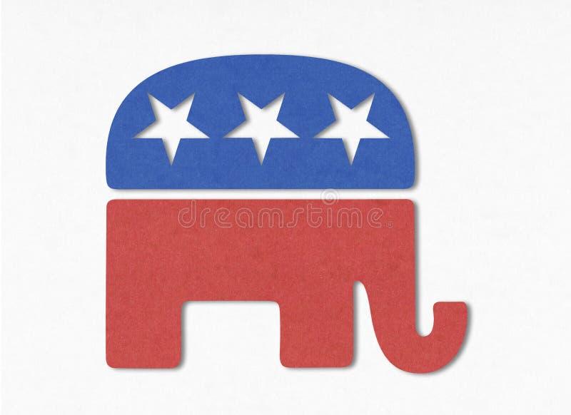Λογότυπο αμερικανικού Κόμματος των Ρεπουμπλικάνων στοκ εικόνα με δικαίωμα ελεύθερης χρήσης