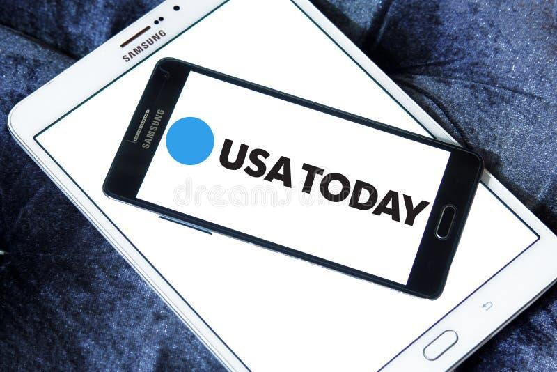 Λογότυπο αμερικανικών σήμερα εφημερίδων στοκ εικόνες