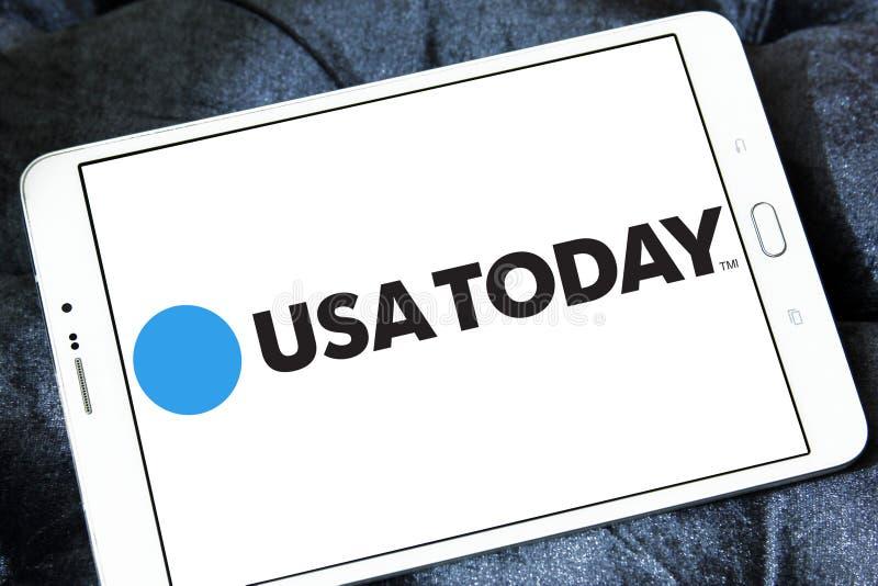 Λογότυπο αμερικανικών σήμερα εφημερίδων στοκ φωτογραφία