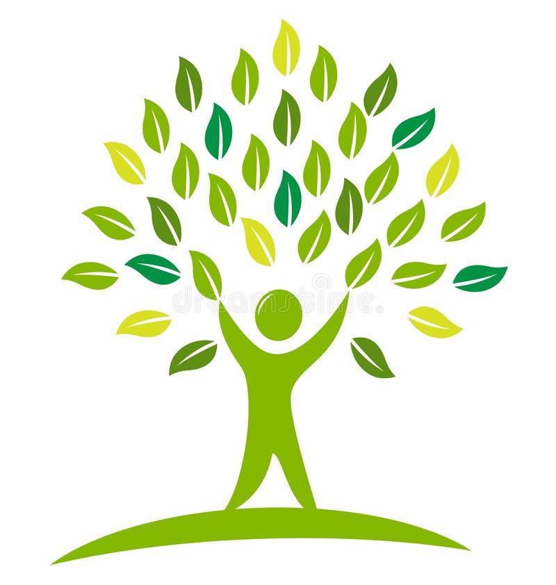 Λογότυπο ανθρώπων δέντρων διανυσματική απεικόνιση