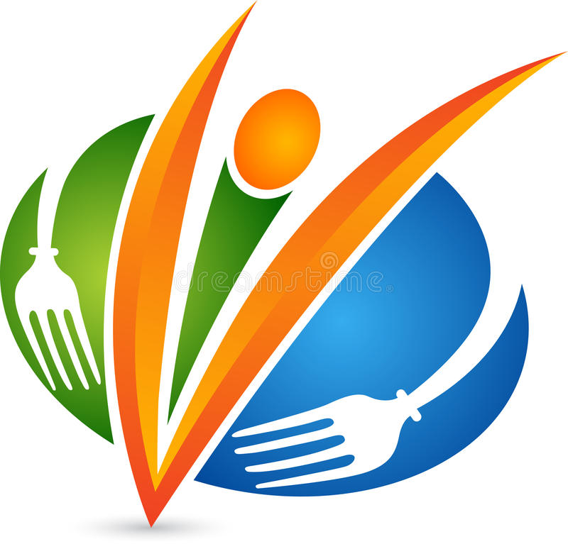 Λογότυπο αρχιμαγείρων εστιατορίων διανυσματική απεικόνιση
