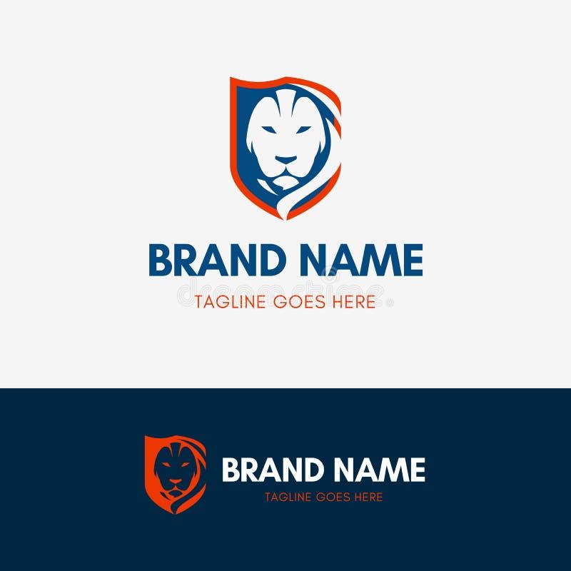 Λογότυπο ασπίδων λιονταριών ελεύθερη απεικόνιση δικαιώματος