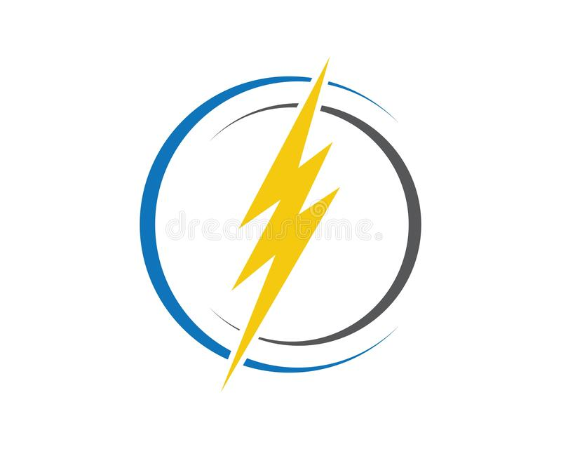 Λογότυπο αστραπής ελεύθερη απεικόνιση δικαιώματος