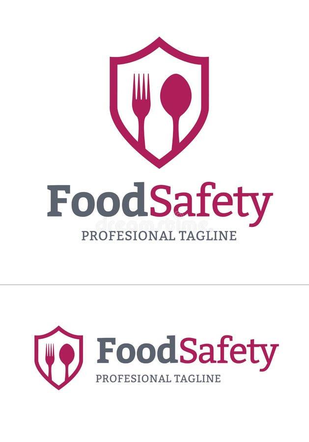 Λογότυπο ασφαλείας των τροφίμων με το διανυσματικό σχήμα διανυσματική απεικόνιση