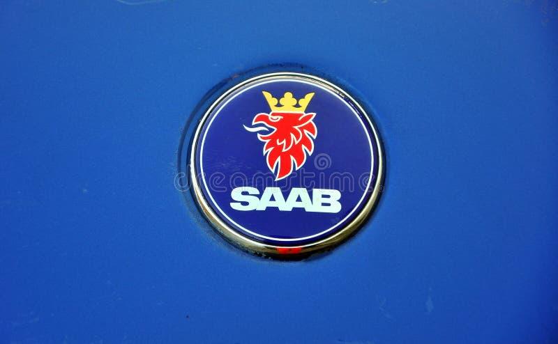 λογότυπο αυτοκινήτων saab στοκ εικόνες