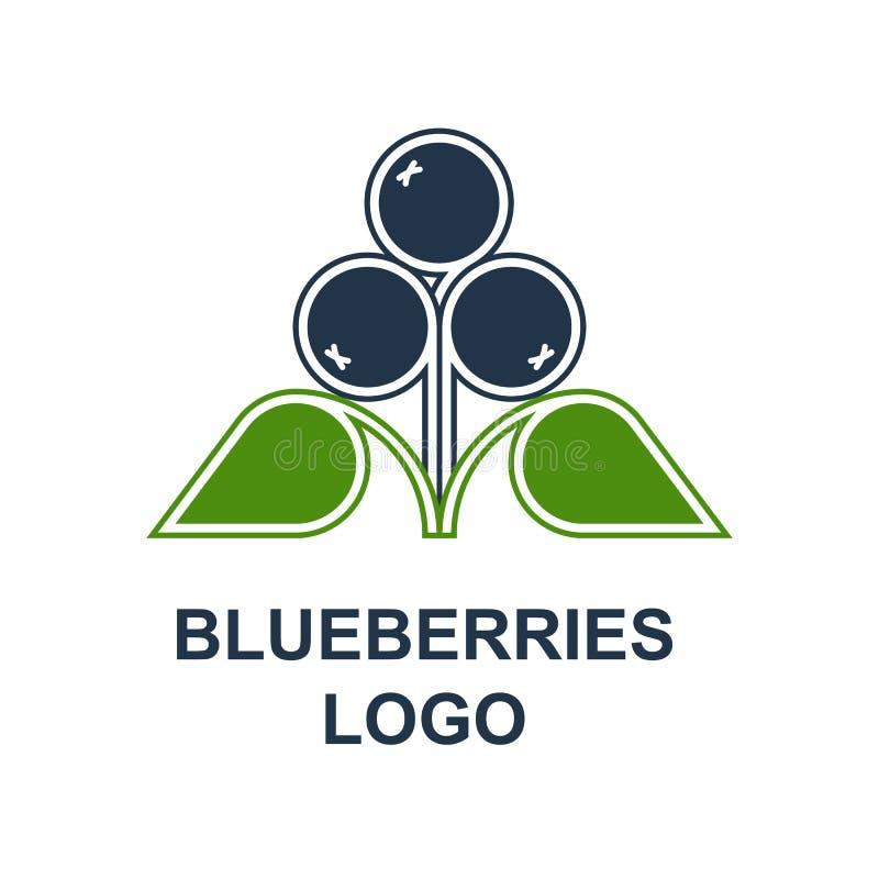 Λογότυπο βακκινίων ή μυρτίλλων στοκ εικόνα με δικαίωμα ελεύθερης χρήσης