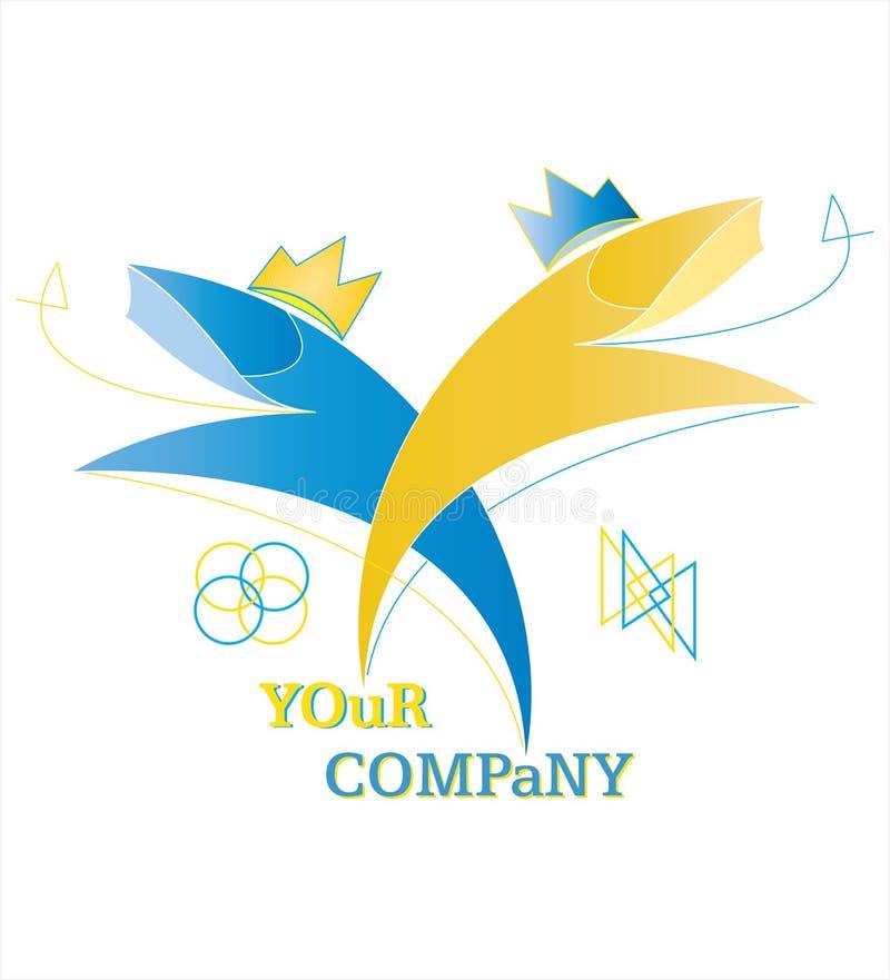 λογότυπο βασιλιάδων ψαριών επιχείρησης απεικόνιση αποθεμάτων