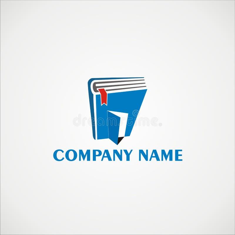 Λογότυπο 2 βιβλίων απεικόνιση αποθεμάτων