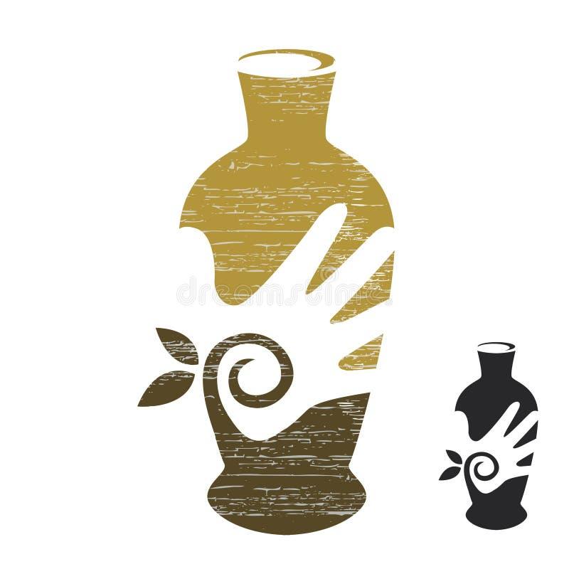 Λογότυπο βιοτεχνίας απεικόνιση αποθεμάτων