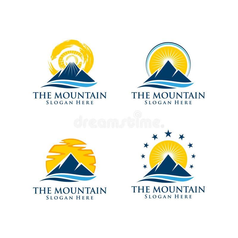 Λογότυπο βουνών διανυσματική απεικόνιση