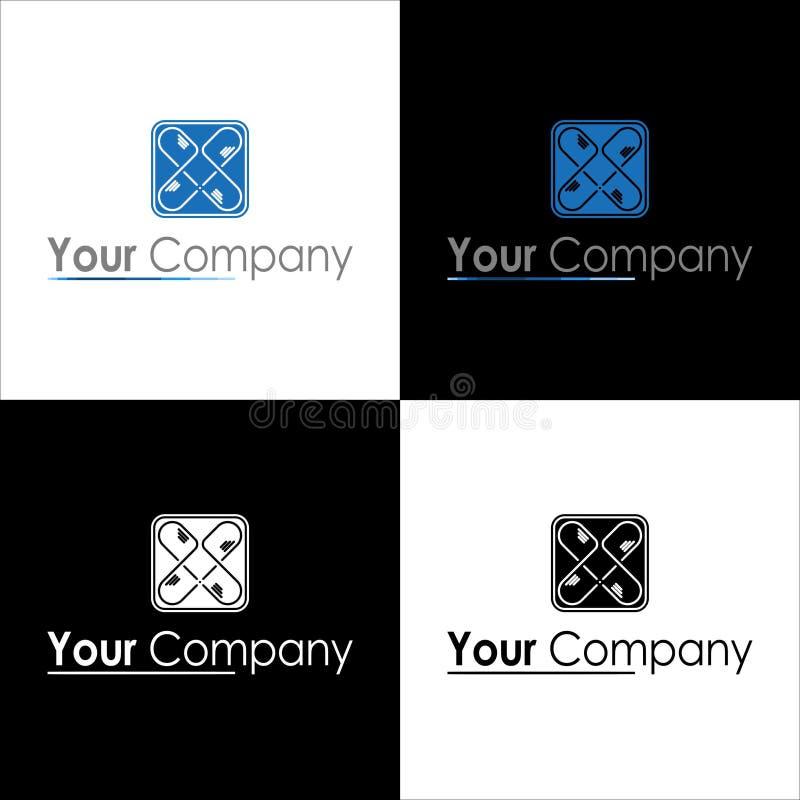 Λογότυπο για την επιχείρηση με την μπλε πλειοψηφία ελεύθερη απεικόνιση δικαιώματος