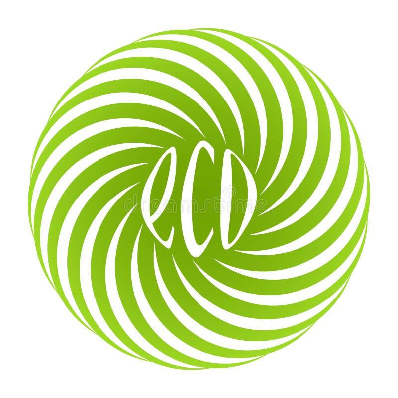 Λογότυπο για το κατάστημα των φυσικών τροφίμων eco απεικόνιση αποθεμάτων