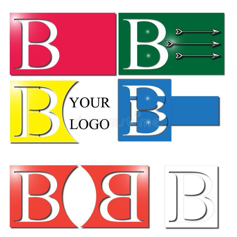 Λογότυπο γραμμάτων Β διανυσματική απεικόνιση