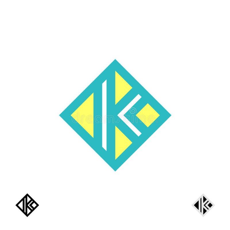 Λογότυπο γραμμάτων Κ διανυσματική απεικόνιση