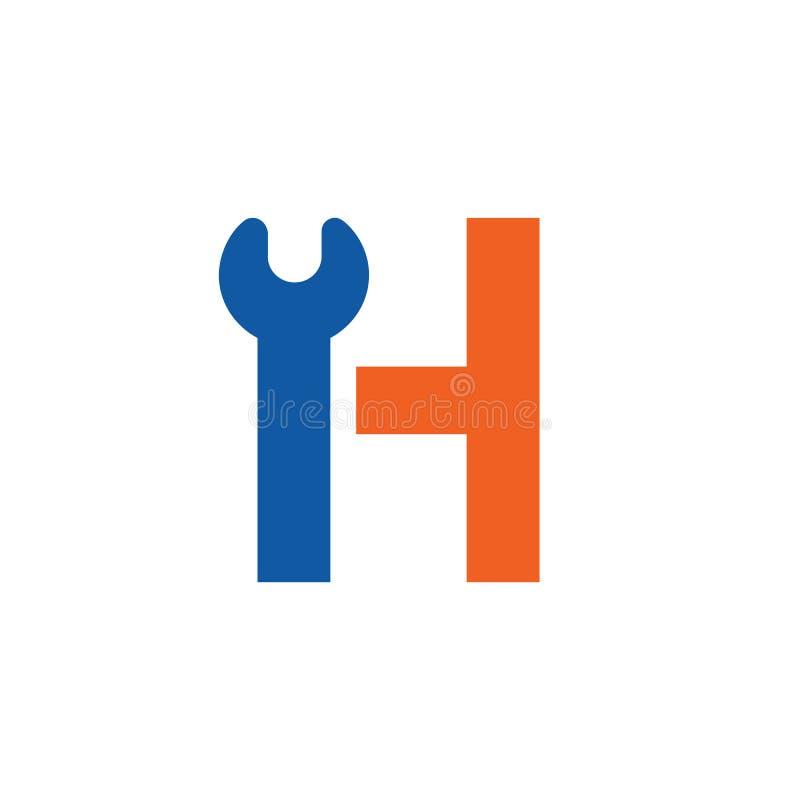 Λογότυπο γραμμάτων Χ, επιστολή Χ με το εικονίδιο γαλλικών κλειδιών ελεύθερη απεικόνιση δικαιώματος