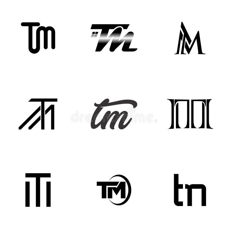 Λογότυπο γραμμάτων TM διανυσματική απεικόνιση