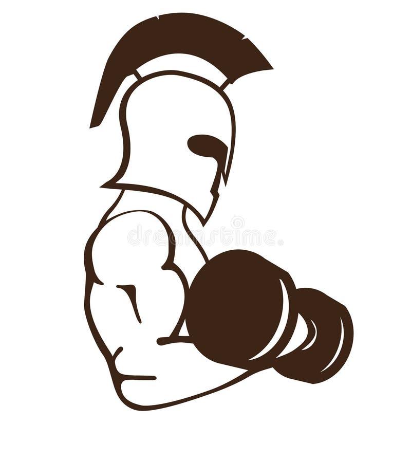 Λογότυπο γυμναστικής ελεύθερη απεικόνιση δικαιώματος