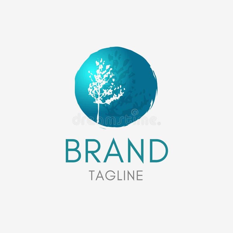 Λογότυπο δέντρων εγκαταστάσεων απεικόνιση αποθεμάτων