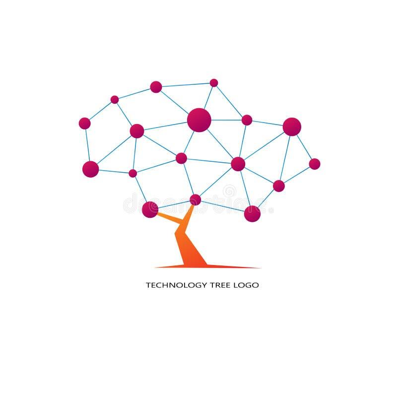 Λογότυπο δέντρων τεχνολογίας διανυσματική απεικόνιση