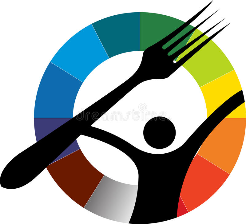 λογότυπο δικράνων διανυσματική απεικόνιση