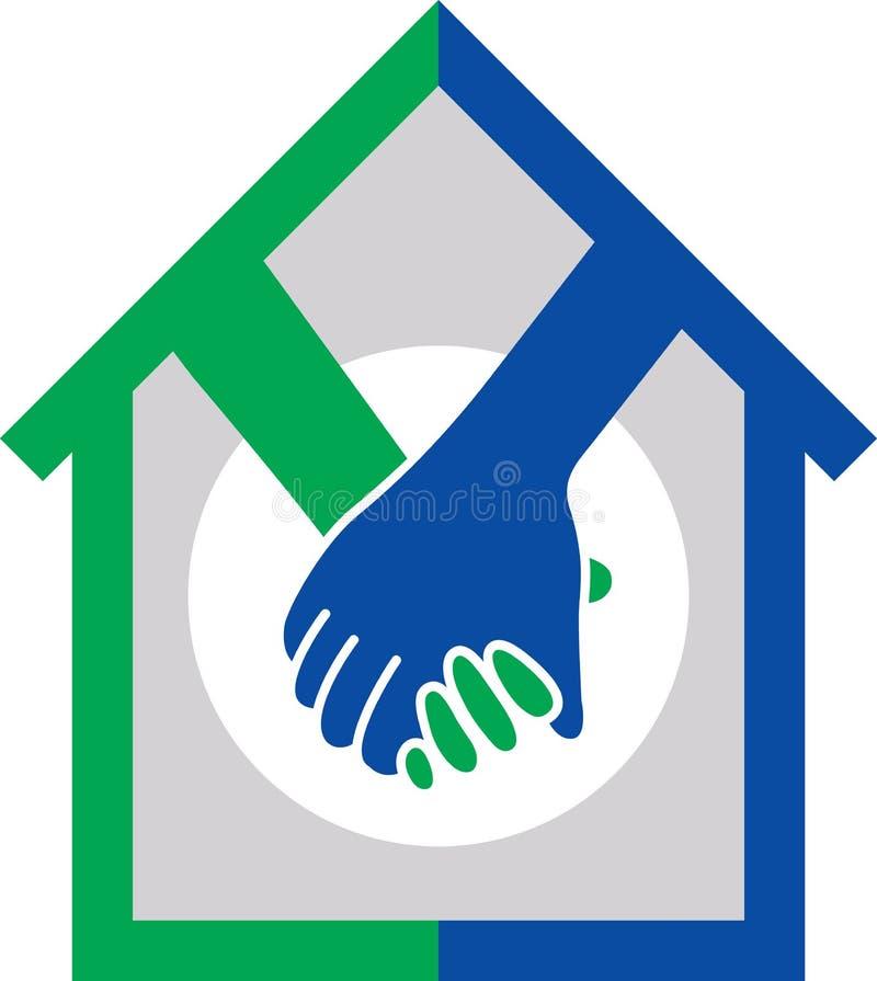 Λογότυπο εγχώριας διαπραγμάτευσης διανυσματική απεικόνιση